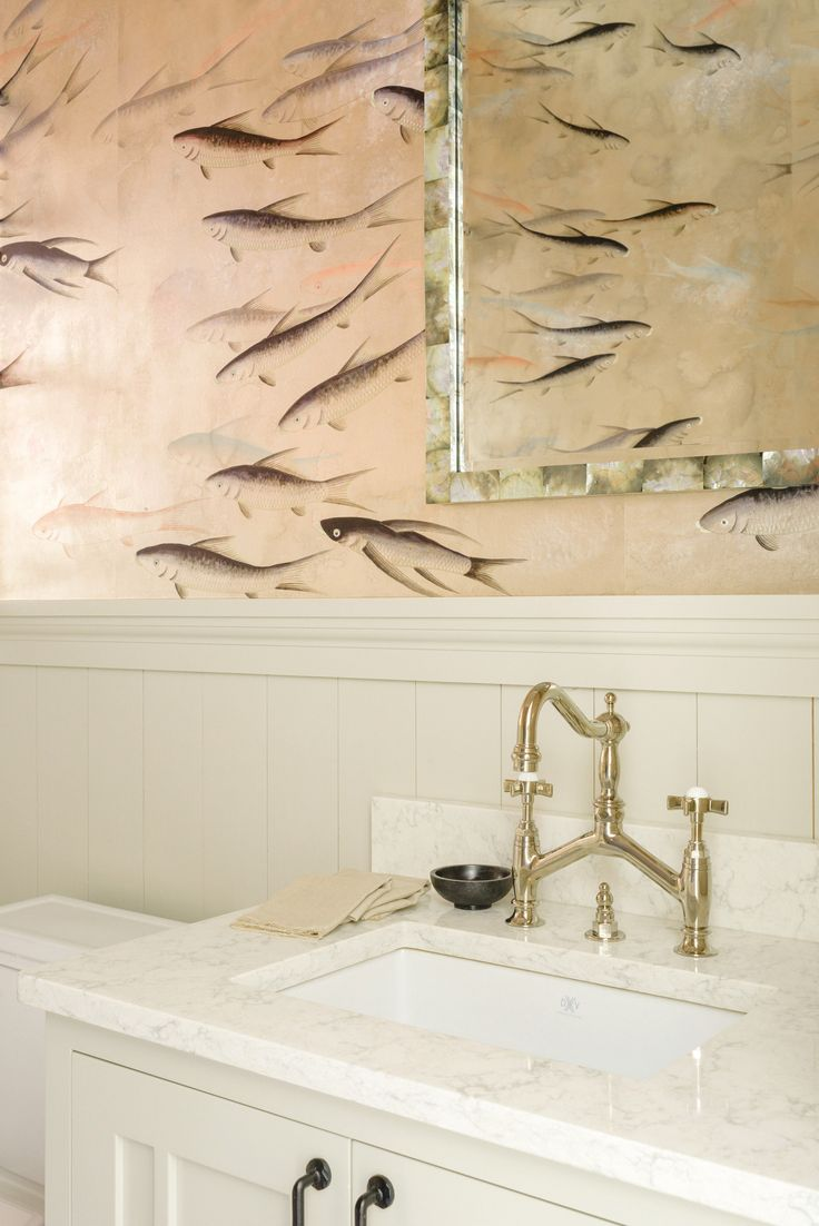 A Statement Powder Room + 17 Wallpapers That Wow (Style Me Pretty Living)