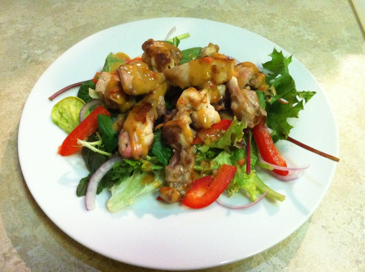 12WBT Satay Chicken & Salad