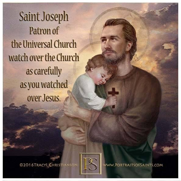 St. Joseph, Watch over the Church as carefully as you watched over Jesus.