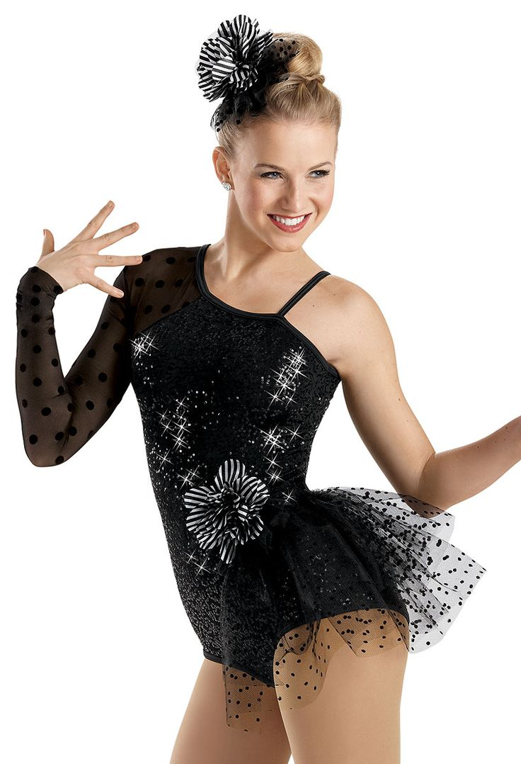 Sequin Polka Dot Bustle Leotard -Weissman Costumes