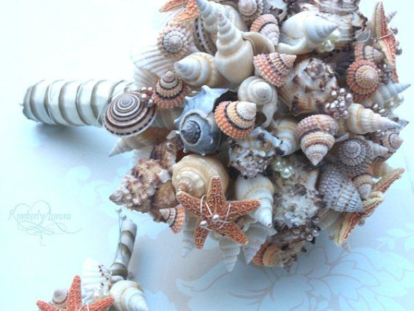 Non-Floral Wedding Bouquets: Using Shells