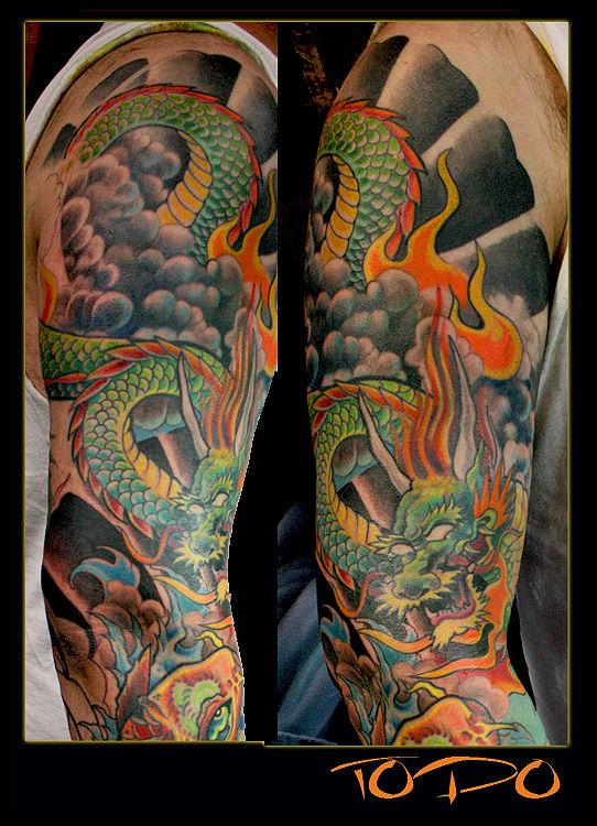 japanese dragon tattoos sleeves