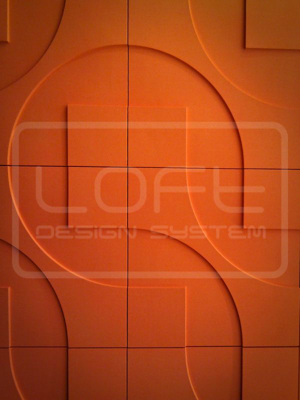 Round & Square - model 05 in orange. Click at the photo to get more information or to visit our website. #LoftDesignSystem #loftsystem #Decorativepanels #Inspiration #Interior #Design #wallpanels #3Ddecorativepanels #3dpanels #3dwallpanels #house #home #homedesign #Decorations #homedecorations #meringue #bedroom #salon #livingroom #round&Square