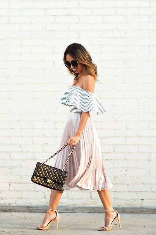 Simple & cute. Love this outfit: CollectiveStyles.com ♥ Fashion | Women apparel | Women's Clothes | Dresses | Outfits | Rompers | PlaySuits | Boohoo | Express | Off The Shoulder | #clothes #maxi #fashion #dresses #women #tops #shop