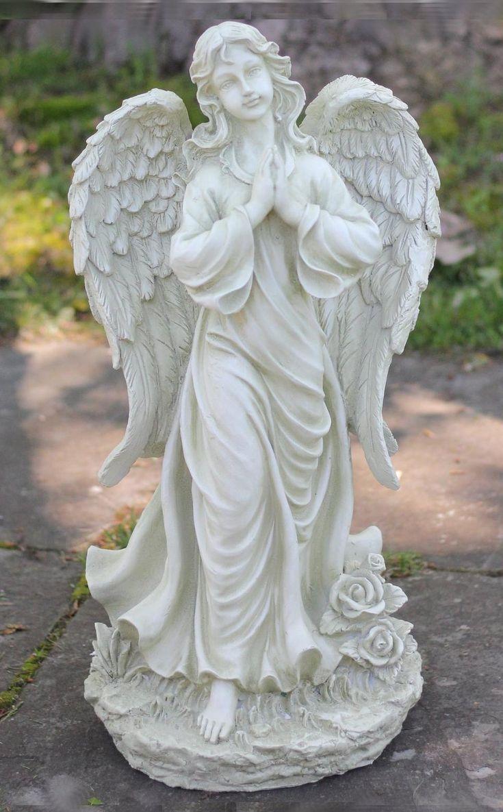 prayerful outdoor angel garden statue in 2019 angel statues angel garden statues garden. Black Bedroom Furniture Sets. Home Design Ideas