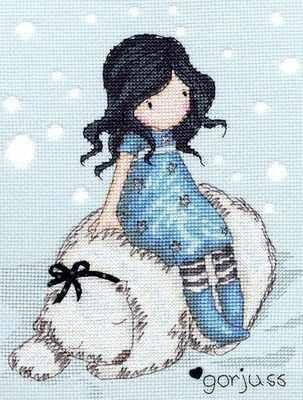 Bothy Threads - Gorjuss Winter Friend cross stitch kit.