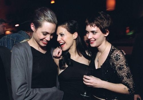 Winona Ryder And Brittany Murphy Angelina Jolie with Wi...