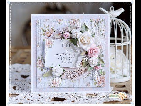 Scrap Art by Lady E: 2 Romantic Cards & Video Tutorial / 2 Romantyczne Kartki i Kurs Video