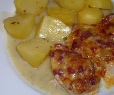 Rezept Flammschnitzel mit Kartoffeln auf Petersiliensauce von Pani Meyer - Rezept der Kategorie Hauptgerichte mit Fleisch