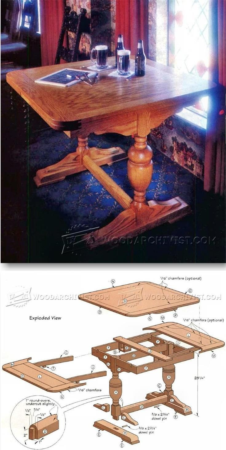 English Pub Table Plans - Furniture Plans and Projects | WoodArchivist.com