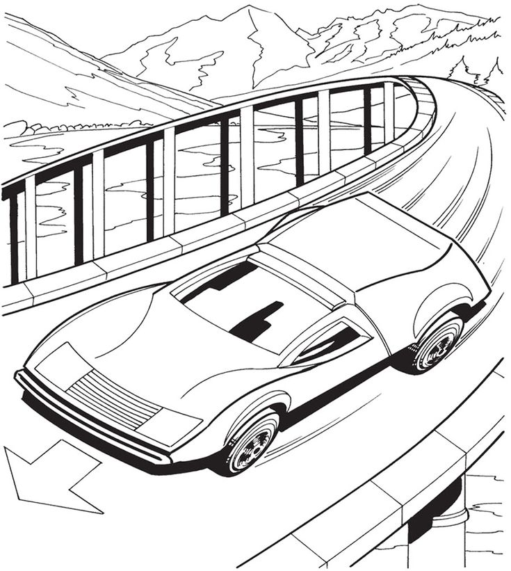 Car Hot Wheels Speeding Coloring