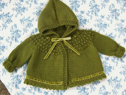 One Skein Hooded Baby Sweater Made This In Several