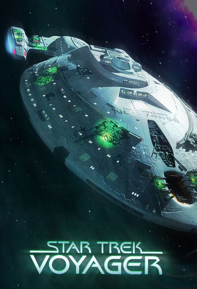 The Enterprise from Star Trek: Voyager with Borg technology