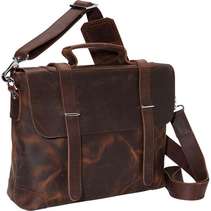 "Vagabond Traveler 13.5"" Leather Shoulder Bag - eBags.com"