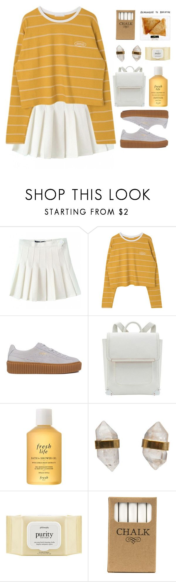 """""""fill in the blank"""" by ai-m ❤ liked on Polyvore featuring Puma, Fresh, Better Late Than Never, philosophy and Jayson Home"""
