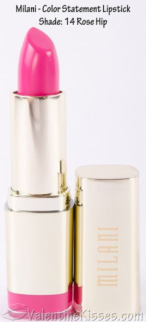 Valentine Kisses: Milani Color Statement Lipstick for Pinks & Corals - swatches, pics, review