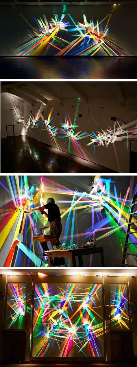 arte inmaterial hecho con focos de luz
