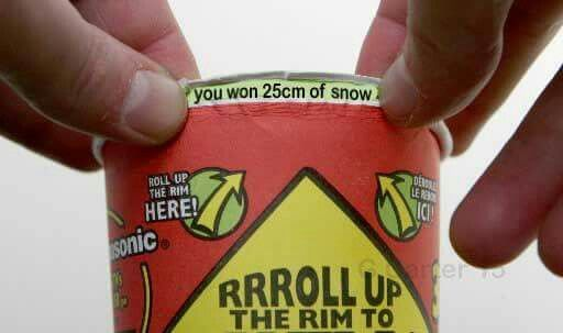 Meanwhile in Canada... Rrrroll up the rrrim to win...this?