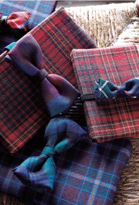 Looks like tartan flannel -- gift wrap -- from http://www.sweetpaulmag-digital.com/sweetpaulmag/winter2011/#pg136 (E-Zine)