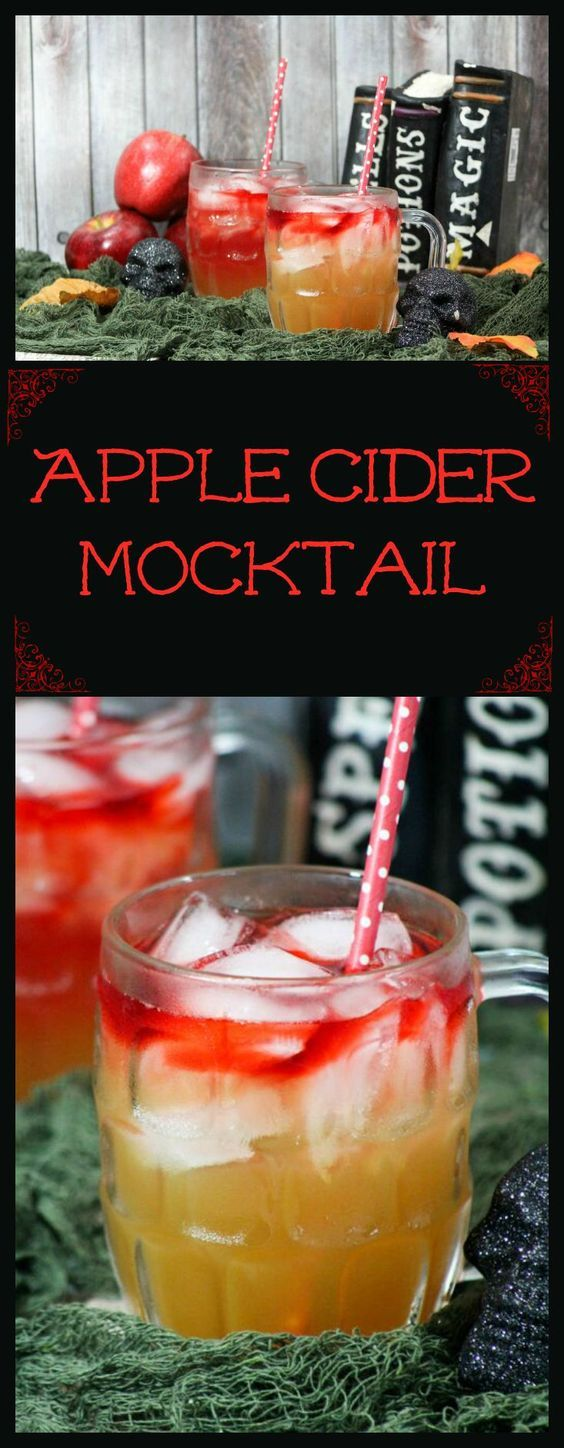 Whip up this apple cider mocktail Halloween teen drink for all your parties and you'll be a hit! The secret? You make your own apple cider! So delish!