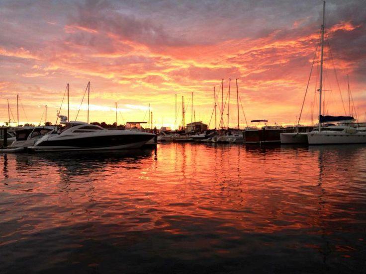 Sunset over the Mandurah Ocean Marina
