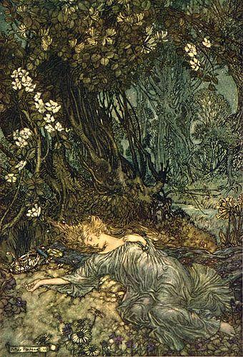 Arthur Rackham dark garden