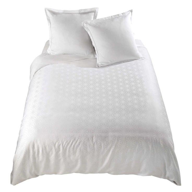 Parure de lit 240 x 260 cm en coton blanche CHLOÉ | Maisons du Monde
