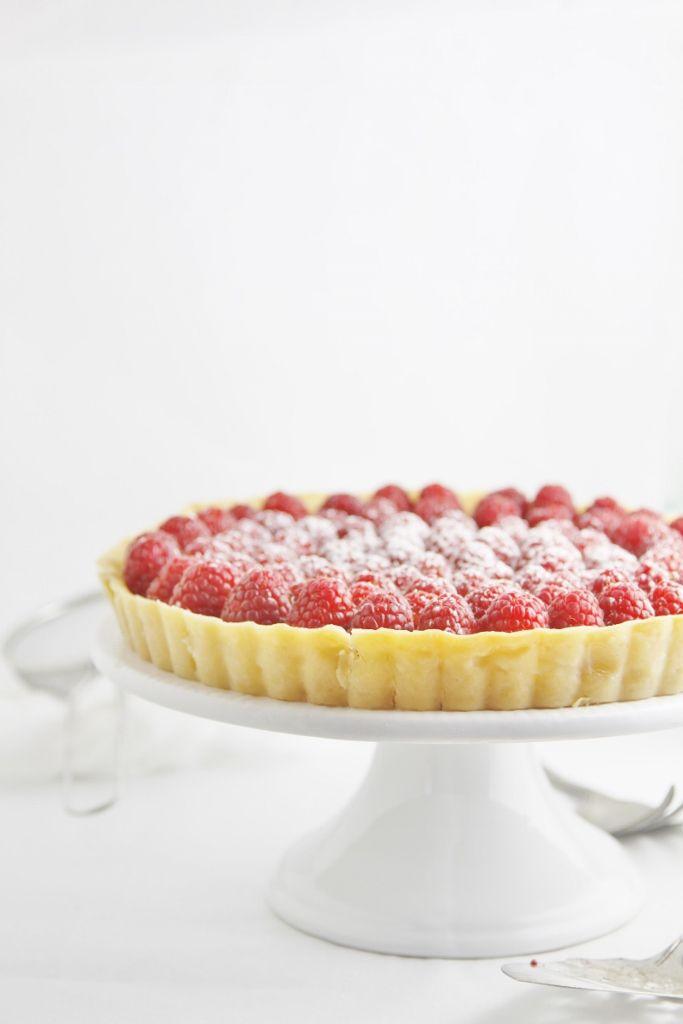 Lemon Tart with Raspberries www.bellalimento.com