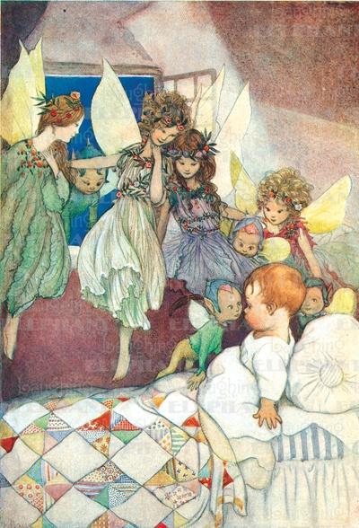 Fairies visit baby.  Blue Lantern Publishing - Laughing Elephant'