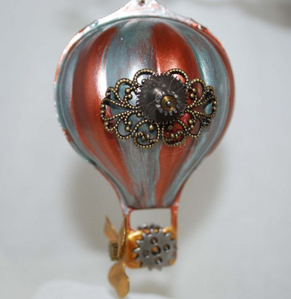 Steampunk Balloon Ornament 6 OOAK by RavensCrafts