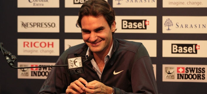 Roger Federer interview in Swiss German after his match with Benjamin Becker yesterday: http://www.youtube.com/watch?v=aNmqeQFVfR0