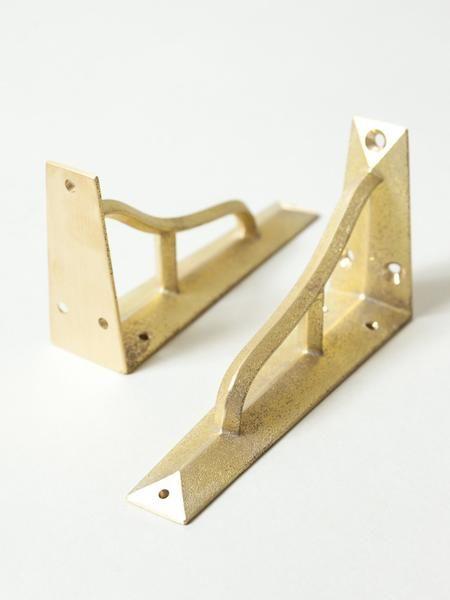 Futagami Brass Shelf Bracket