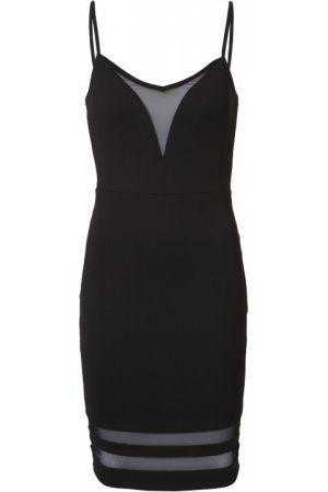 Dames jurk met mesh details. De jurk heeft een strakke fit, ronde hals en dunne verstelbare bandjes. Verder heeft de jurk een rits aan de zijkant. Lengte maat S: 97 cm. (10,00 euro)