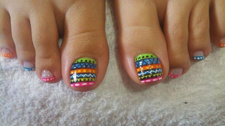 uñas decoradas de los pies - Buscar con Google