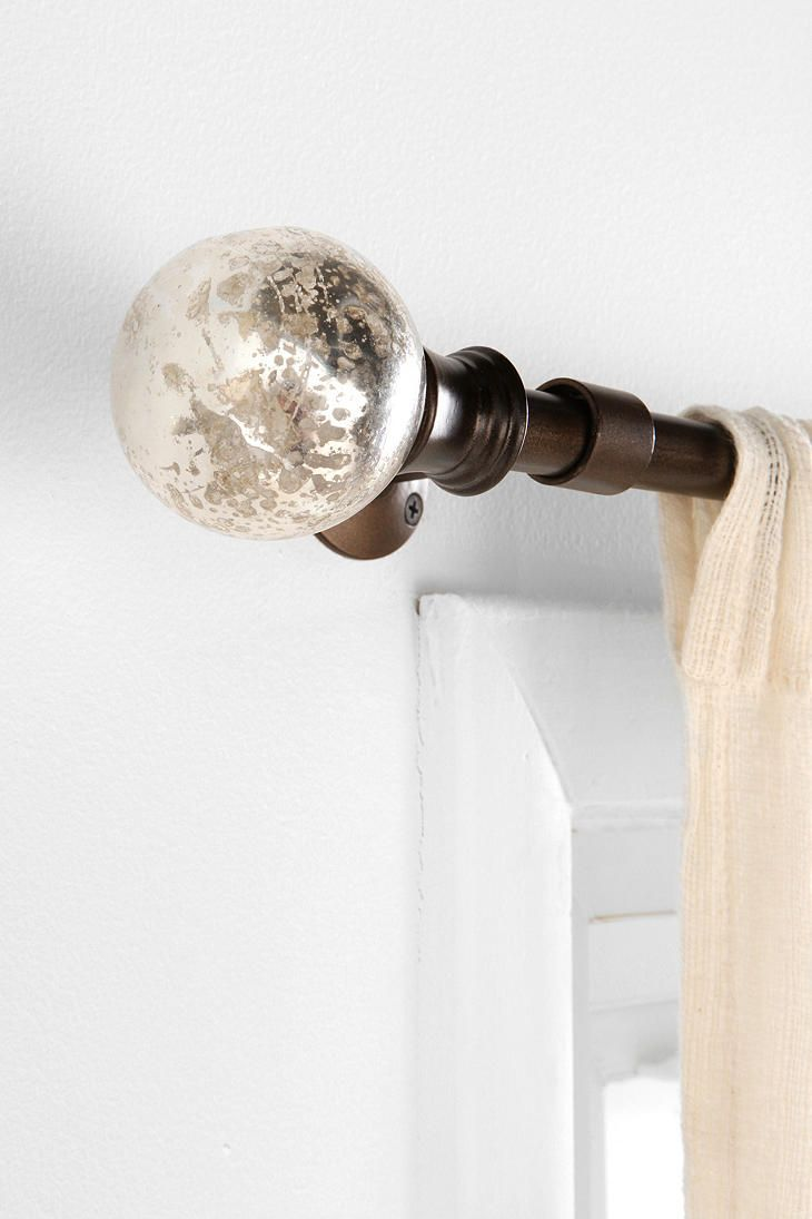 Modern curtain rods and finials - Find This Pin And More On Double Curtain Rods