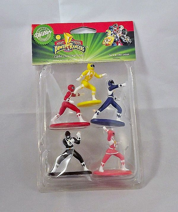 Wilton Power Rangers Cake Decorations Nip Original From 1994