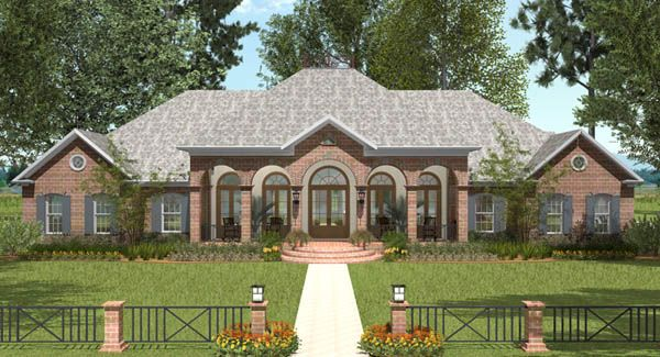 St landry house plan 6964 about the only ranch style i for French country ranch home designs