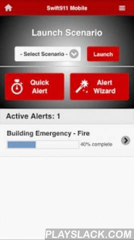 Swift911 Mobile  Android App - playslack.com , Swift911™ Mobile provides an intuitive mobile user interface that allows a user access to the alerting capabilities of the comprehensive alerting system.This app requires a valid account and login credentials. Without these, you will not be able to use any of the features available in this app.The Swift911™ Mobile app provides the users of SwiftReach's Swift911™ system to quickly and easily launch emergency alerts from their phone, tablet or…