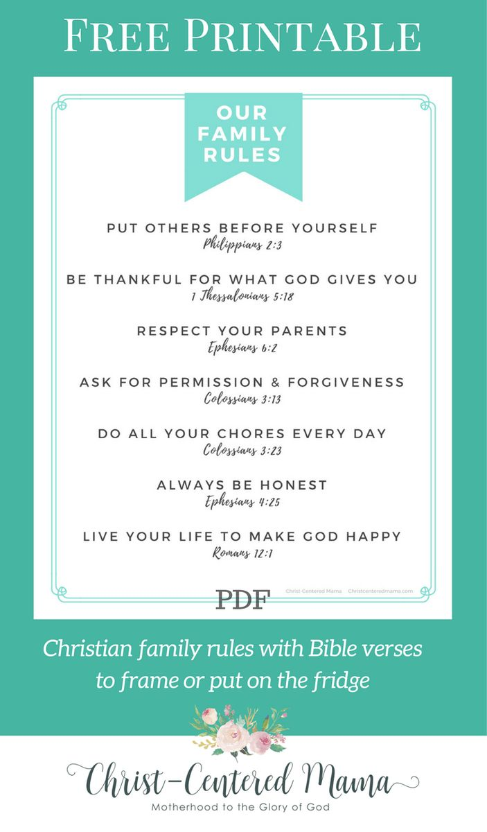 Christian Family Rules- The Importance of Family Rules