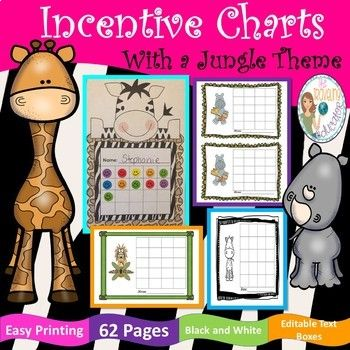 Looking for a way to increase good behavior in the classroom? Here you will find Incentive charts with a fun jungle theme. The file contains 62 pages with 62 jungle clip art designs. I use these incentive charts for a behavior plan in my classroom.
