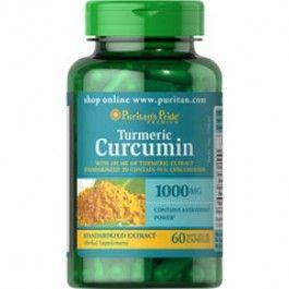 1000 mg kurkuma Kruidensupplement Met zwarte peper extract 60 capsules per verpakking