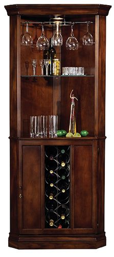 Piedmont Corner Home Bar-corner bar for dining room - good for a small apartment or home