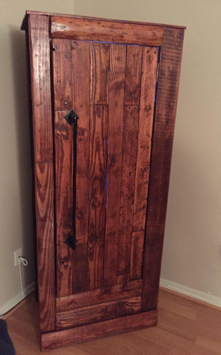 My Husbands New Gun Cabinet He Did A Great Job Gun