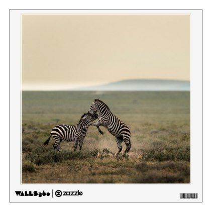 Two Plains Zebras Wall Decal - walldecals home decor cyo custom wall decals
