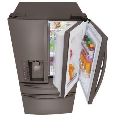 lg refrigerators home depot. lg electronics 29.7 cu. ft. french door refrigerator with door-in-door in black stainless steel lg refrigerators home depot