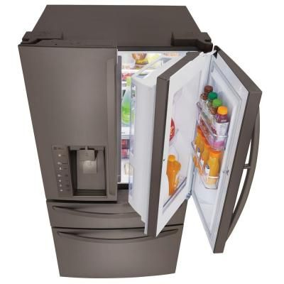 LG Electronics 30 cu. ft. French Door Refrigerator with Door in Door in Black Diamond Stainless Steel-LMXS30776D - The Home Depot