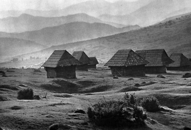 Hay houses. Slovakia by Plicka