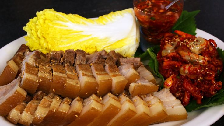 Pork wraps (Bo-ssam: 보쌈) English & Korean Captions