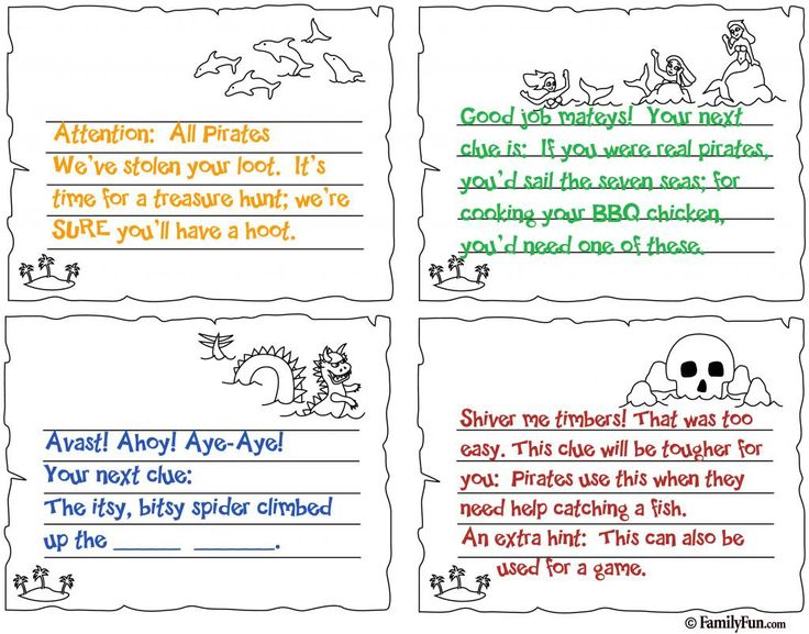 Pirate Party Clues Page 1 Photo:  This Photo was uploaded by bevholte. Find other Pirate Party Clues Page 1 pictures and photos or upload your own with P...