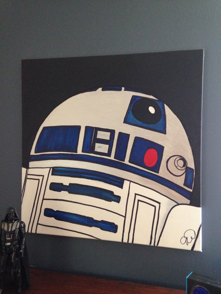For Xander's Star Wars room... Acrylic on canvas. I've always loved painting and now I get to create for my kids. Makes me happy.